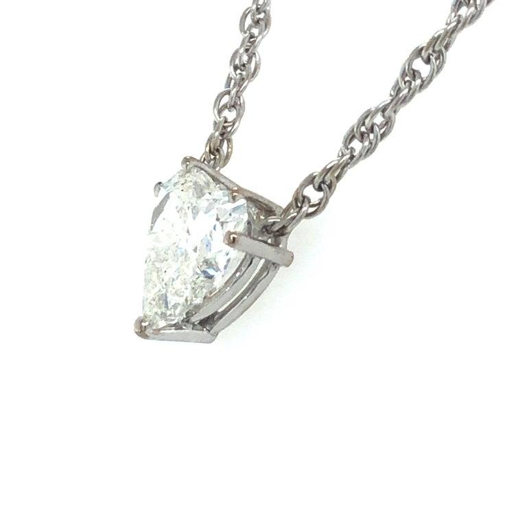 Heart Cut GIA Certified 2.54 Carat Diamond Heart Necklace in 18 Karat White Gold For Sale