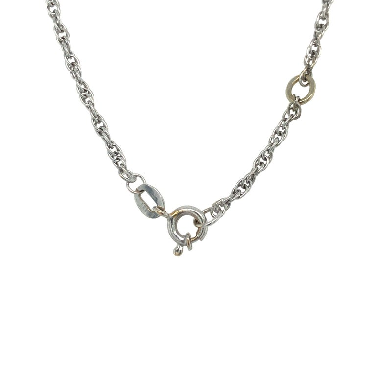 GIA Certified 2.54 Carat Diamond Heart Necklace in 18 Karat White Gold For Sale 3