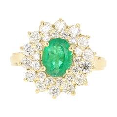GIA Certified 2.54 Carat Emerald Diamond 18 Karat Yellow Gold Engagement Ring