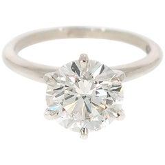 GIA Certified 2.58 Carat Round Diamond Engagement Ring
