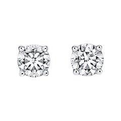 GIA Certified 1.28 & 1.31 Carat D Color Diamond Stud Earrings