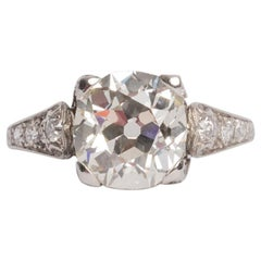 GIA Certified 2.60 Carat Diamond Platinum Engagement Ring
