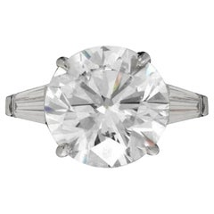 GIA Certified 2.60 Carat Round Cut Diamond Platinum Ring