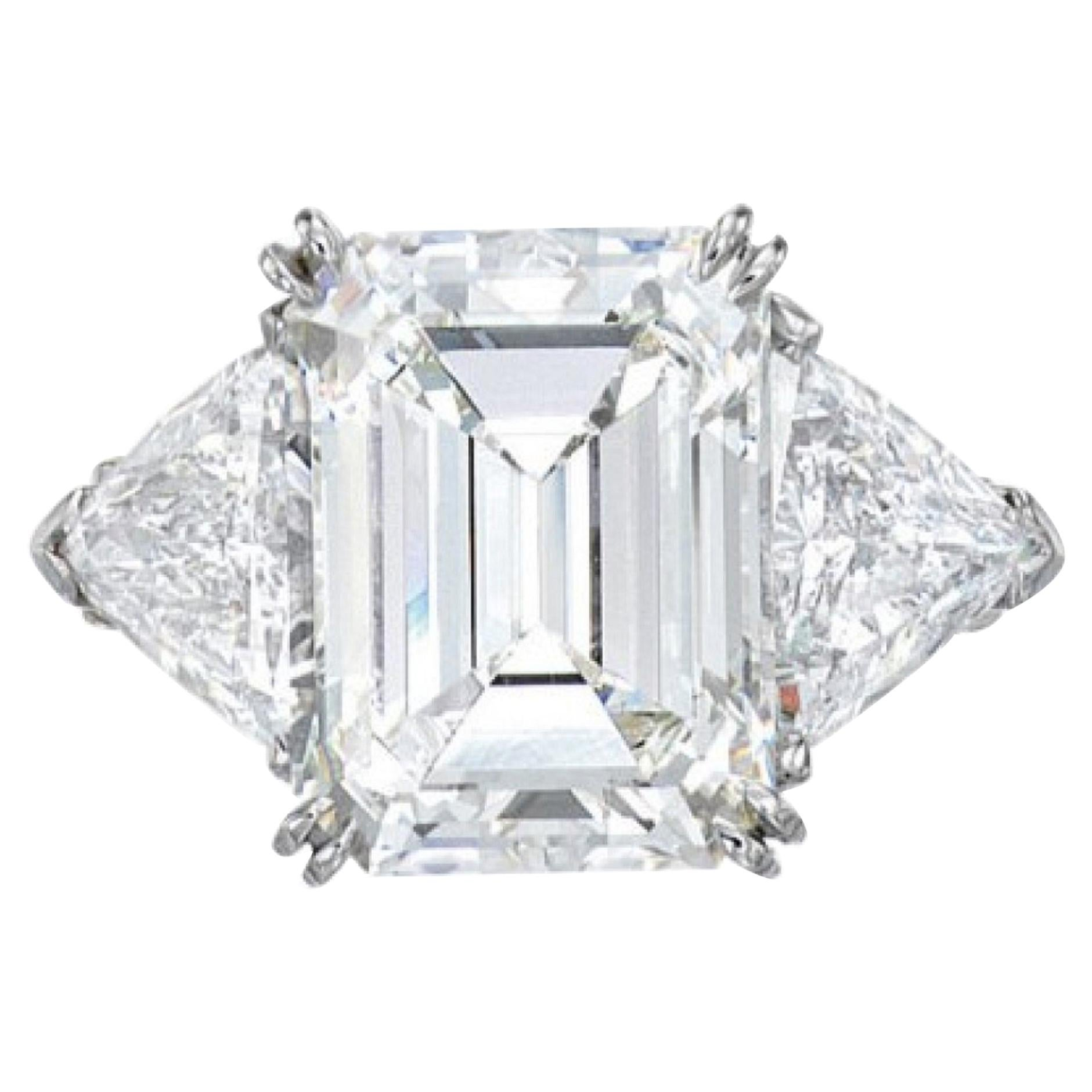 IGI Certified 3 Carat Emerald Cut Diamond Ring