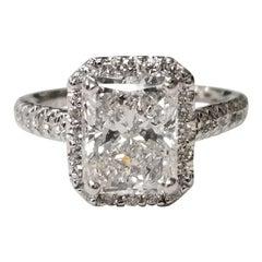 """GIA Certified 2.77 Carat Diamond Radiant Cut Color """"D"""""""