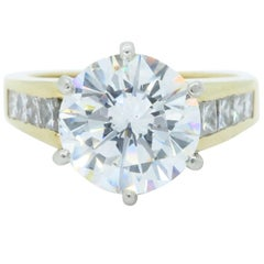 GIA Certified 2.89 Carat Round Brilliant Cut Diamond Engagement Ring