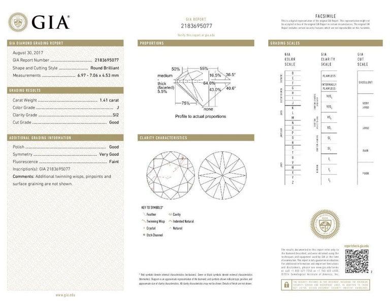 Modern Vivid Diamonds GIA Certified 2.93 Carat Diamond Stud Earrings For Sale