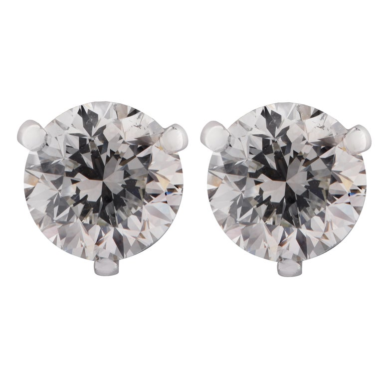 Vivid Diamonds GIA Certified 2.93 Carat Diamond Stud Earrings In New Condition For Sale In Miami, FL