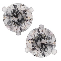 Vivid Diamonds GIA Certified 2.93 Carat Diamond Stud Earrings