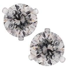 GIA-Zertifiziert 2.93 Karat Diamant-Ohrstecker