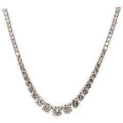 ISSAC NUSSBAUM GIA Certified 29.85 Carat Diamond Graduated Riviera Necklace