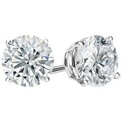 Gia Certified 3 Carat Diamond Studs