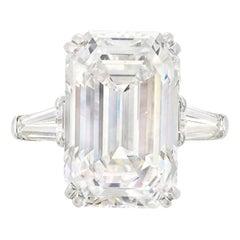 GIA Certified 3 Carat Emerald Cut Diamond Engagement Ring