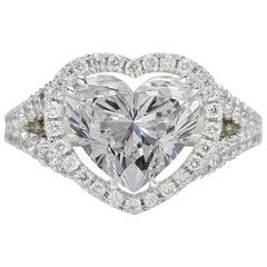 GIA Certified 3 Carat Heart Shape Cut Diamond F VS1