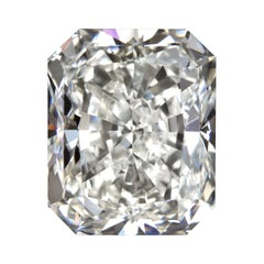 GIA Certified 3 Carat Long Radiant Cut Diamond Ring Triple Excellent Cut