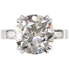 GIA Certified 3 Carat Round Brilliant Cut Diamond