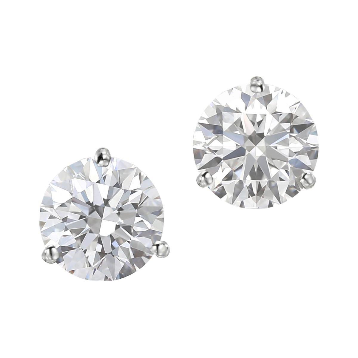 I FLAWLESS GIA Certified 2 Carat Diamond Studs