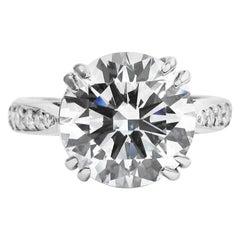 GIA Certified 3.50 Carat Round Brilliant VS Cut Diamond Ring
