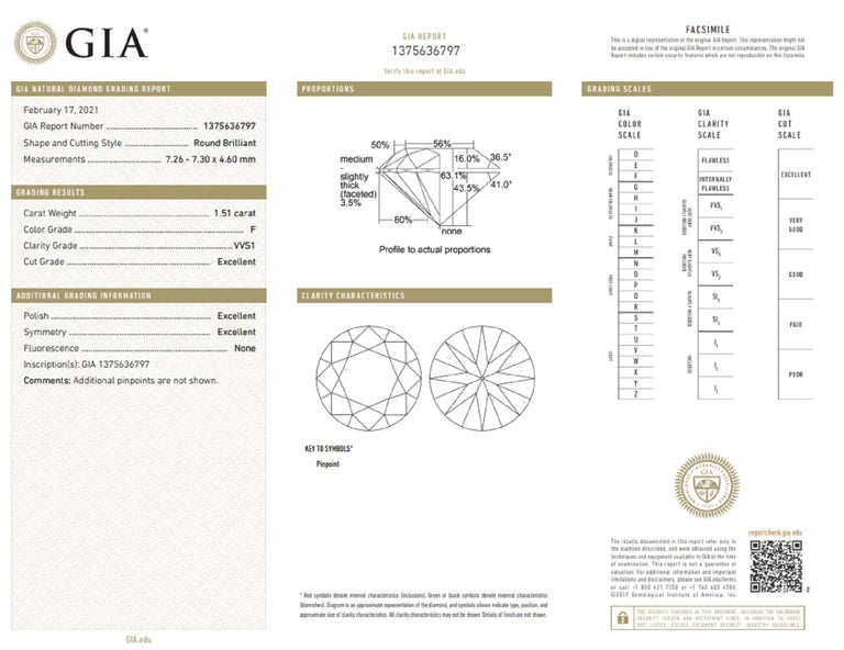 Round Cut GIA Certified 3.00 Carat Round Brilliant Cut Diamond INTERNALLY FLAWLESS/VVS1 For Sale