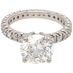 GIA Certified 3.01 Carat Diamond Engagement Ring