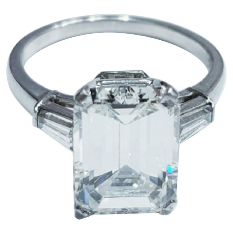 GIA Certified 3.01 Carat Emerald Cut Diamond