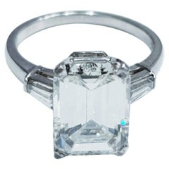 GIA Certified 3.01 Carat Emerald Cut Diamond VVS Clarity D Color
