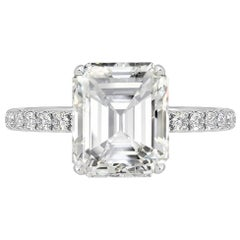 GIA Certified 3.01 Carat G VVS2 Diamond Ring