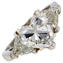 GIA Certified 3.01 Carat Heart Cut Diamond Engagement Ring in Platinum