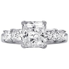 GIA Certified 3.01 Carat Radiant Cut Diamond Engagement Ring