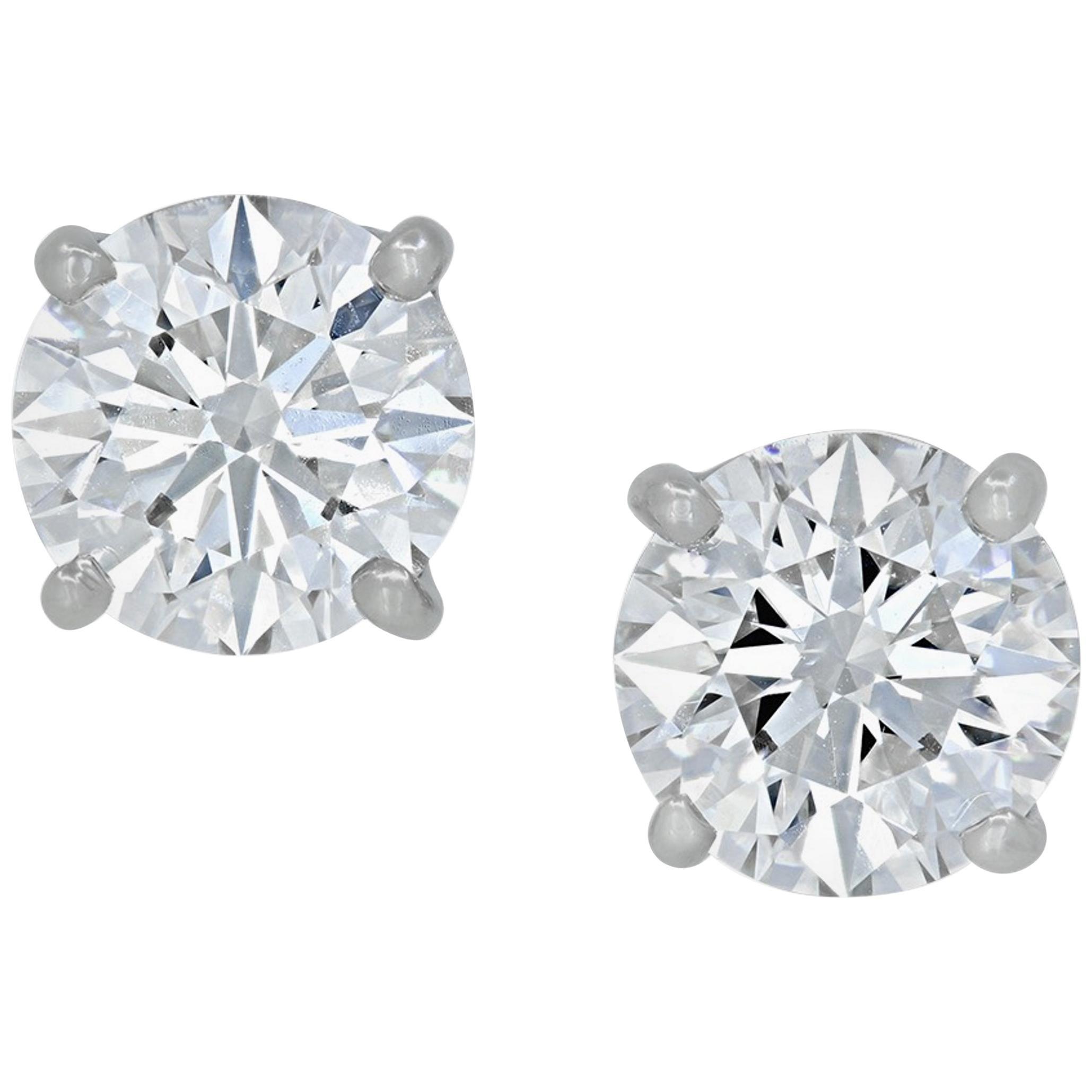 INTERNALLY FLAWLESS E/F Color GIA Certified Diamond Studs