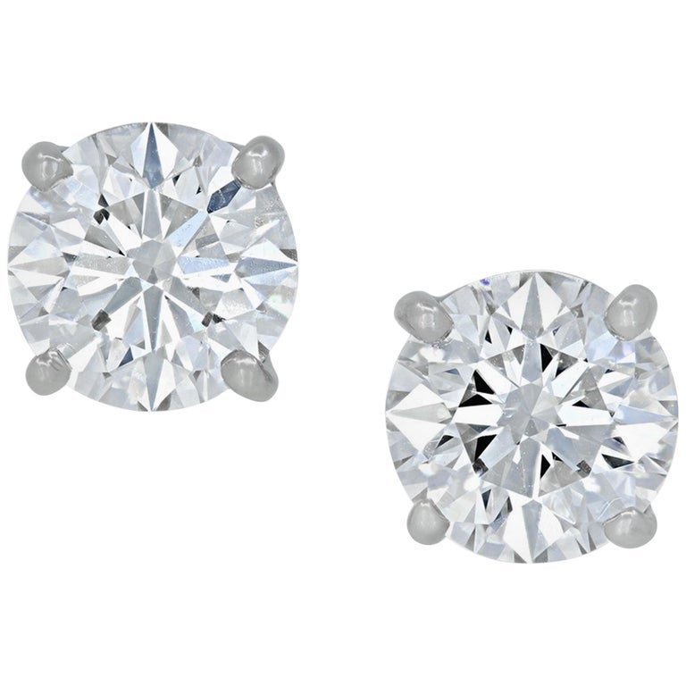 INTERNALLY FLAWLESS E/F Color GIA Certified Diamond Studs For Sale