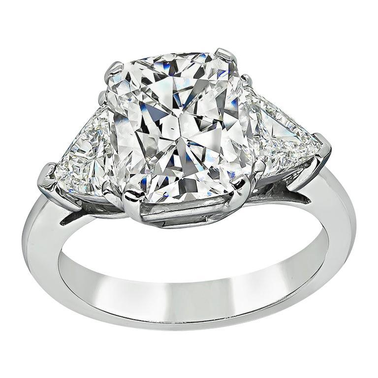 GIA Certified 3.02 Carat Diamond Engagement Ring