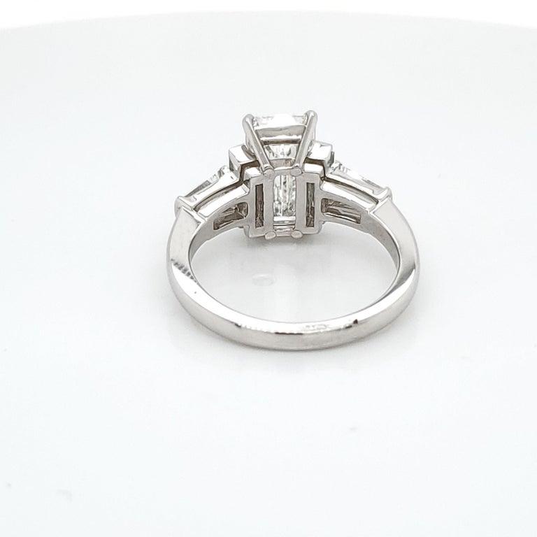 Women's GIA Certified 3.02 Emerald Cut Diamond Five-Stone Ring For Sale
