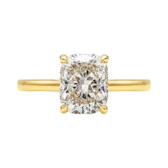 GIA Certified 3.04 Carat Cushion Cut Diamond Solitaire Engagement Ring
