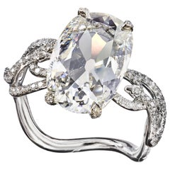 GIA Certified 3.09 Carat J/VVS2 Diamond Cushion Brilliant Cut Engagement Ring
