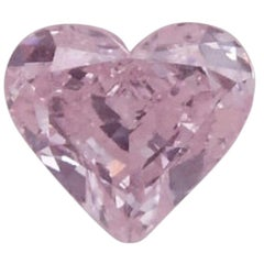 GIA Certified 3.19 Carat Fancy Light Purplish Pink Hear Shape Diamond VS1