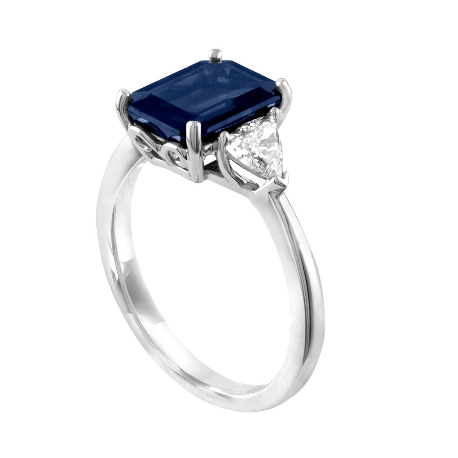 ring heart dark diamond engagement huge bucellati blue lace shaped with pin tanzanite rings