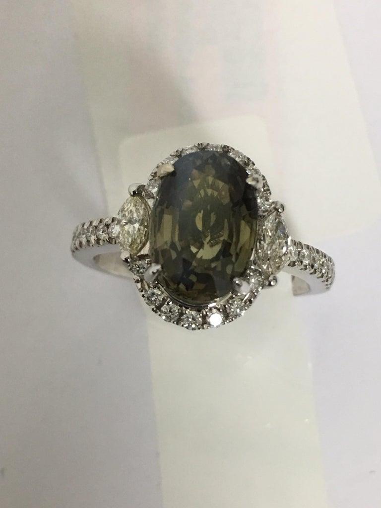Alexandrite Wedding Ring | Gia Certified 3 35 Carat Alexandrite Diamond Ring For Sale At 1stdibs