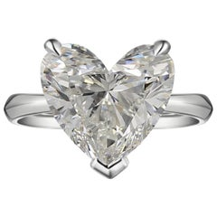 INTERNALLY FLAWLESS D Color GIA Certified 2 Carat Heart Shape Diamond Solitaire