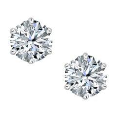 GIA Certified 3.40 Carat Round Brilliant Cut Diamond Ring