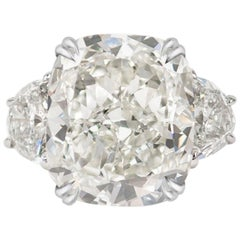 GIA Certified 3.45 Carat Cushion Cut Diamond G Color IF Clarity
