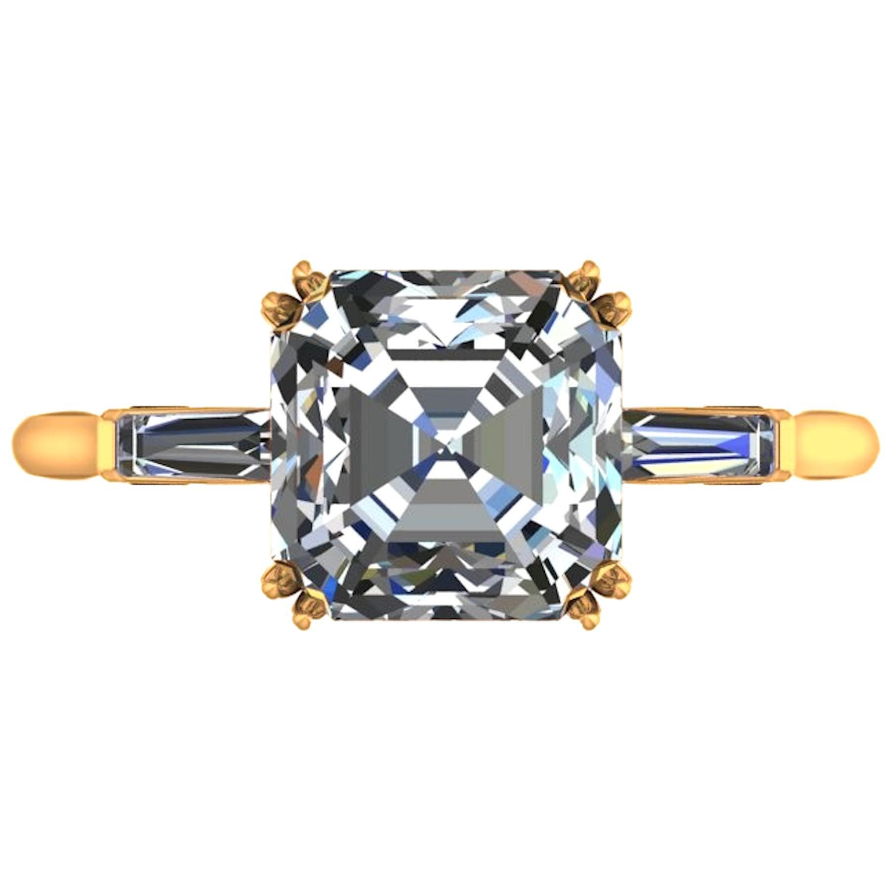 GIA Certified 3.50 Carat Asscher Cut Diamond Ring