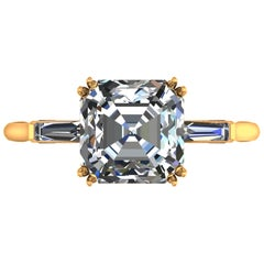 GIA Certified 3.50 Carat Asscher Cut Diamond Ring