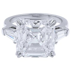 GIA Certified 3.67 Carat Asscher Cut Diamond F Color VS1 Clarity Excellent Cut