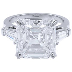 GIA Certified 3.65 Carat Asscher Cut Diamond  Excellent Cut