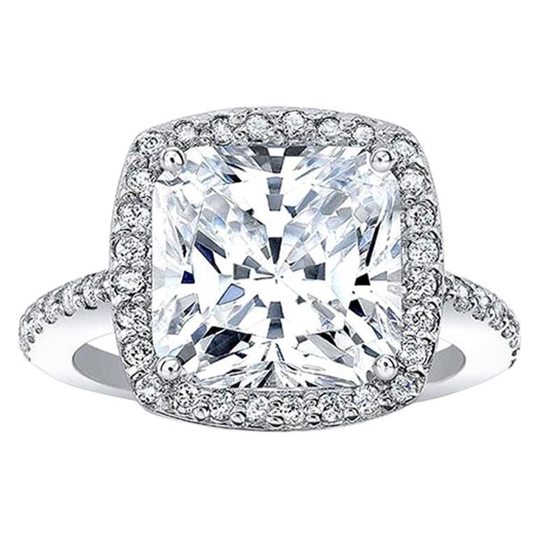 GIA Certified 4.50 Carat Cushion Cut Diamond Excellent Cut