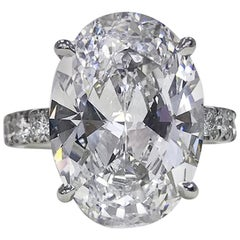 GIA Certified 3 Carat Oval Diamond Ring E Color VS2 Clarity