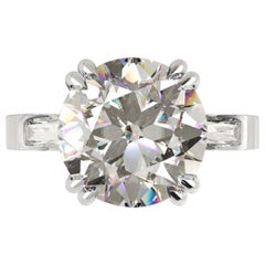 GIA Certified 2.85 Carat Round Brilliant Cut Diamond Ring D VVS2
