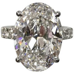 GIA Certified 3.50 Oval Diamond Ring Triple Excellent Cut