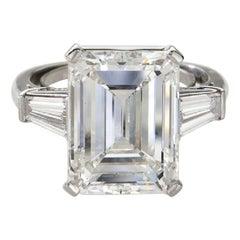 GIA Certified 3.51 Carat 'main stone' Emerald Cut Diamond Excellent Cut